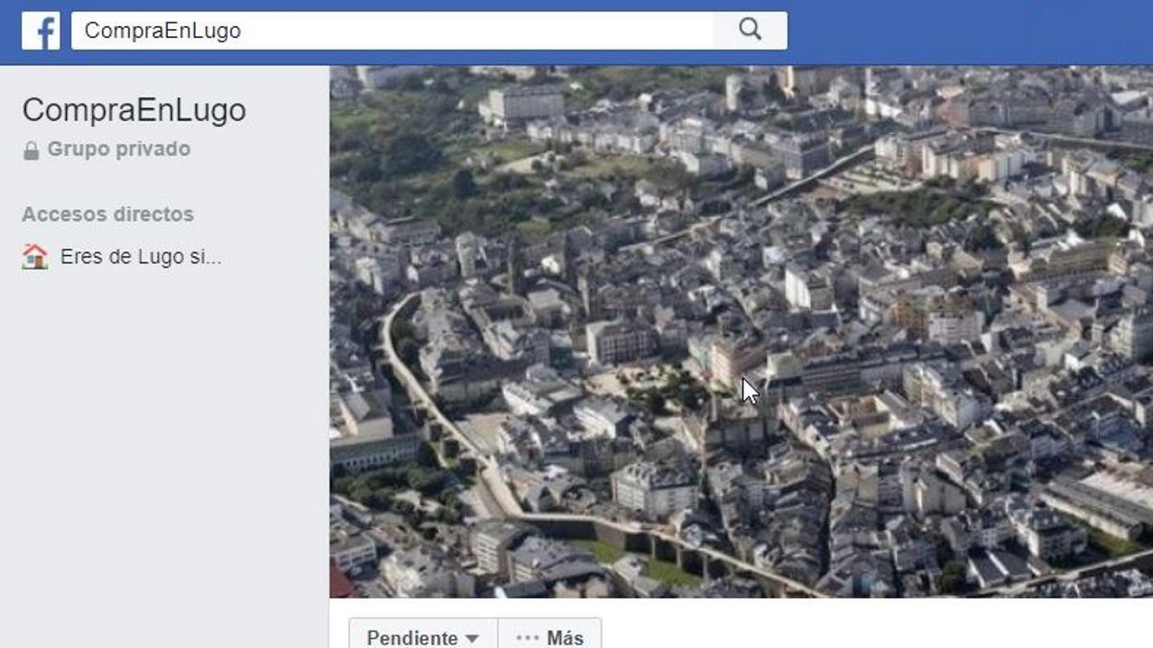 Página de Facebook Compra en Lugo, creada por Pablo Diaz