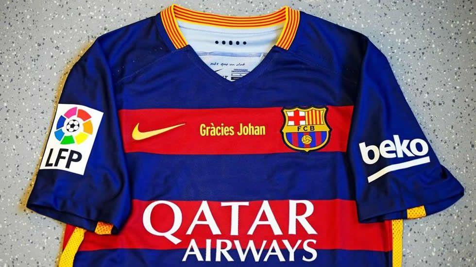 Gracias Johan.Camiseta en homenaje a Johan Cruyff