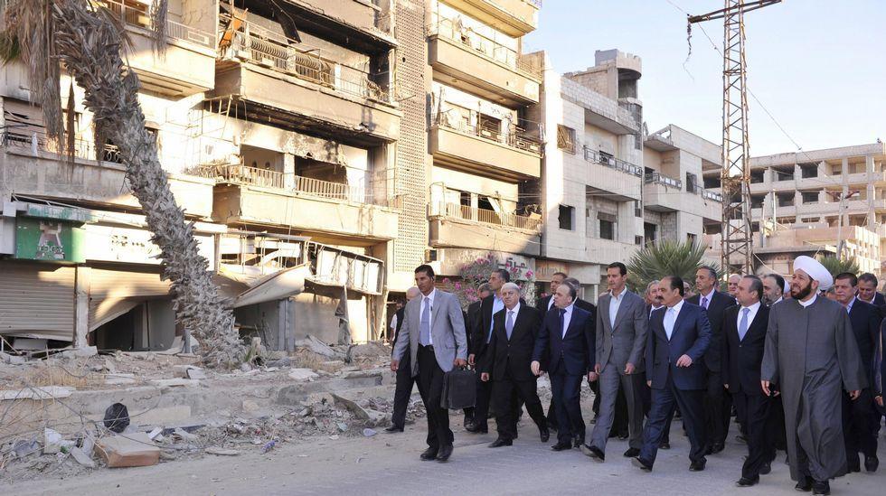 Graban ataques con bombas de fósforo sobre Alepo.Al Asad, con un alto funcionario iraní hoy en Damasco