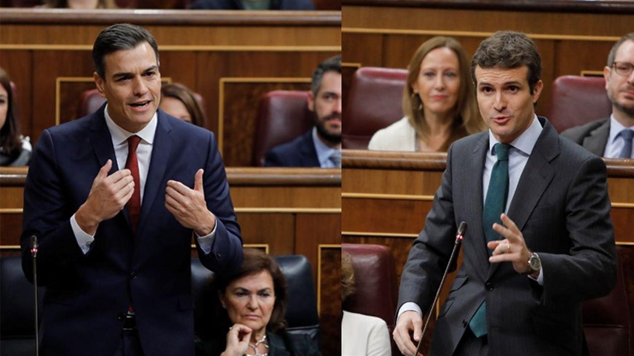 Pablo Casado y Pedro Sánchez se reprochan el bloqueo en la renovación del CGPJ