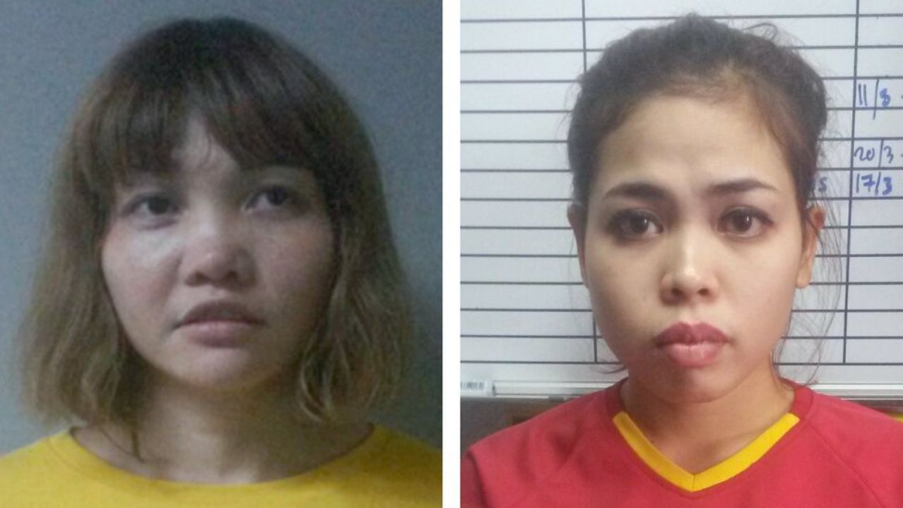 Las dos acusadas del asesinato.