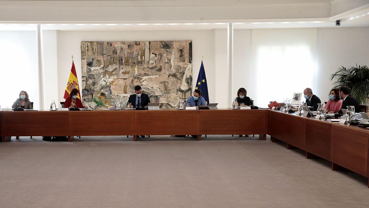 Reunión del Consejo de Ministros, este lunes, en Moncloa