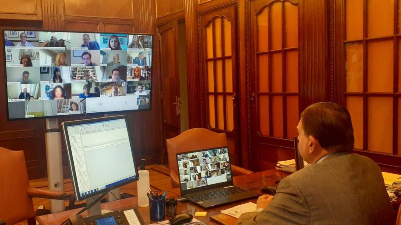 Pleno telemático del mes de julio en Oviedo