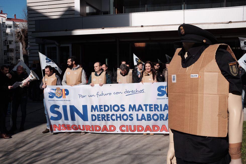 Otra protesta de la UFP reclamando una nueva comisaría de Policía Autonómica en Vigo