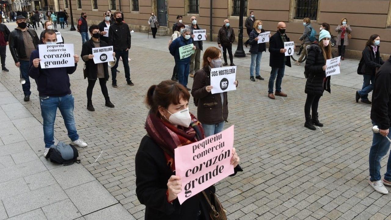 Protesta de la plataforma Hostelería Con Conciencia