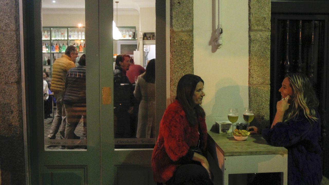 Ambiente en la cafetería Bonilla