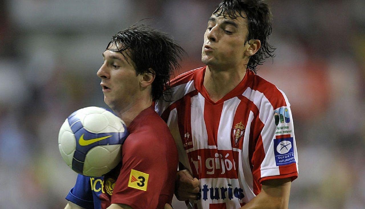 Míchel Madera y Leo Messi