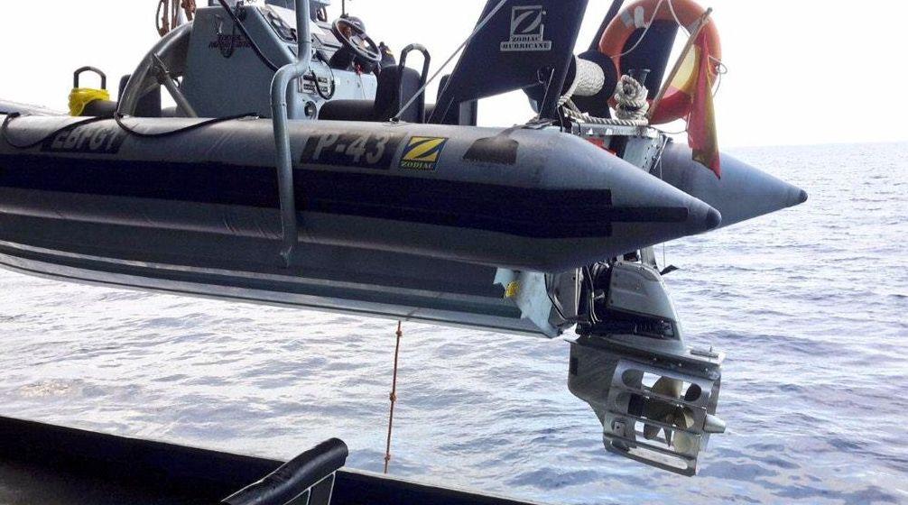 Foto detalle de las hélices protegidas de las embarcaciones del patrullero RELÁMPAGO P43