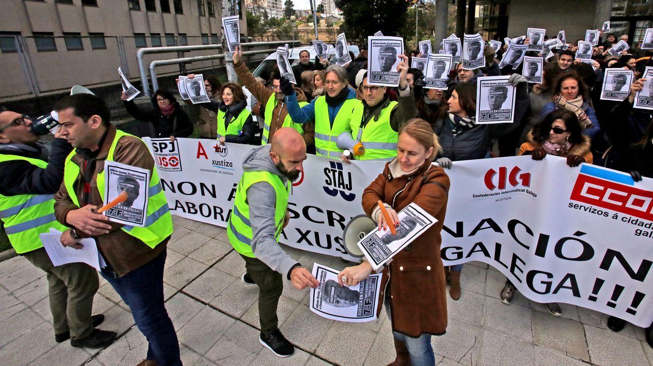 Huelga funcionarios de Justicia