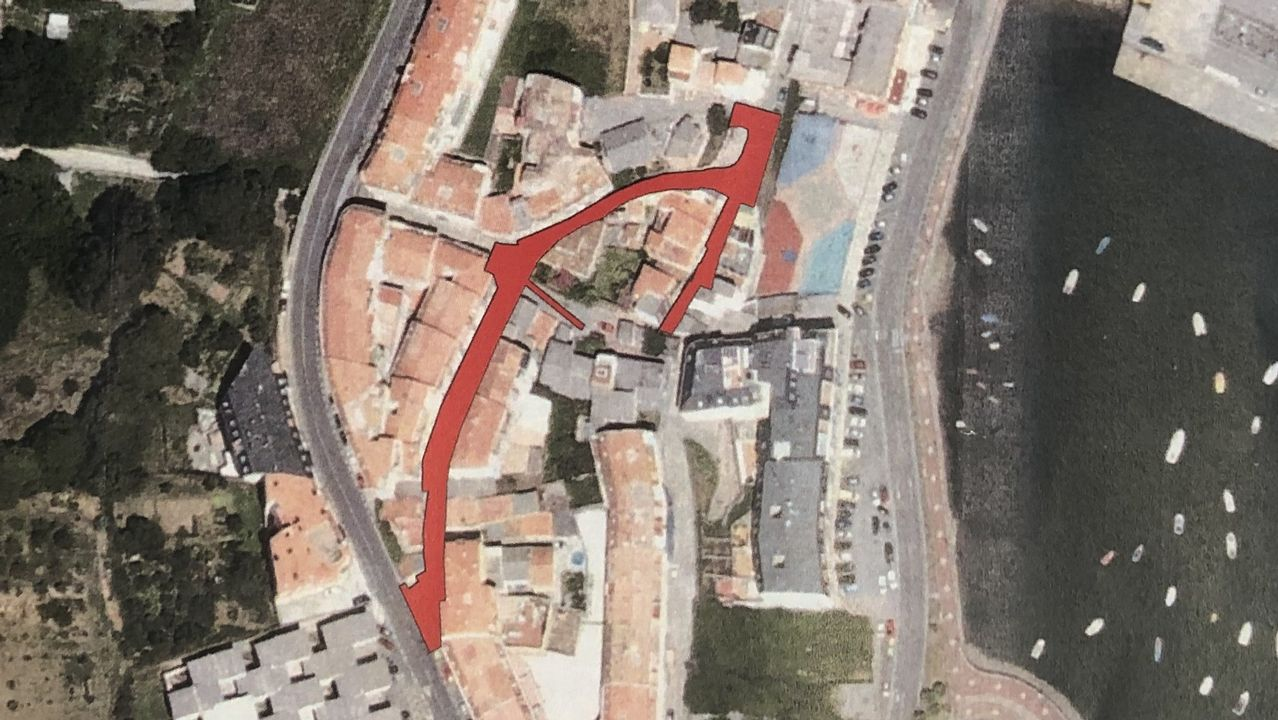 Detenido en Betanzos.Zona de actuación en el barrio de Fontán prevista en el proyecto