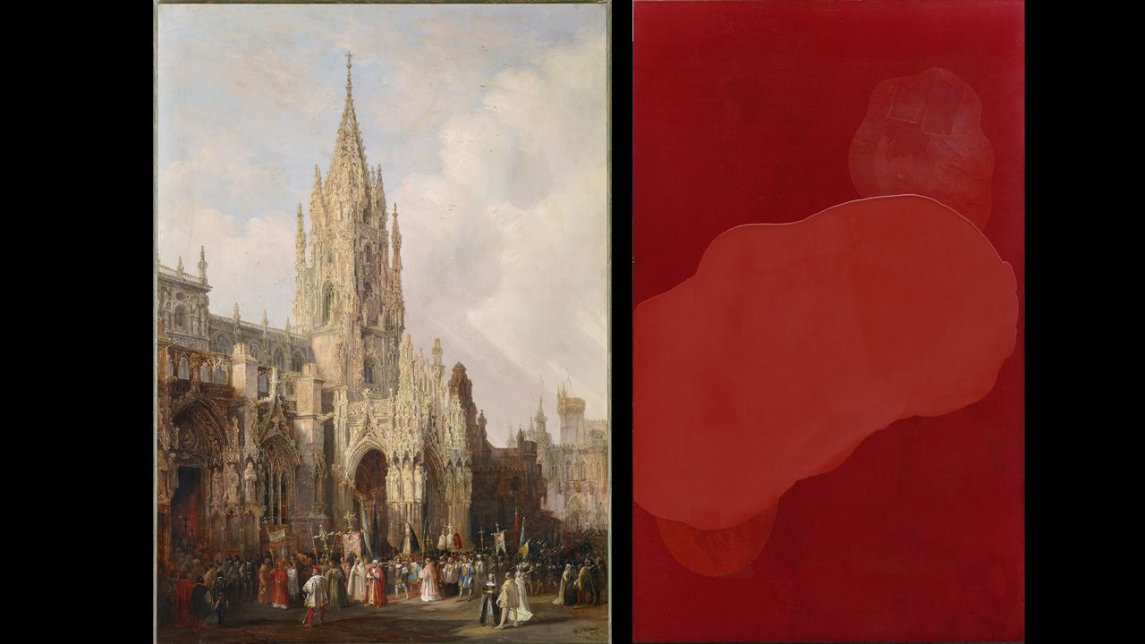 Spot de Saco 7.A la izquierda, una pintura de Genaro Pérez Villamil y a la derecha una obra de Bernardo Sanjurjo que estarán en el Museo de Bellas Artes de Asturias