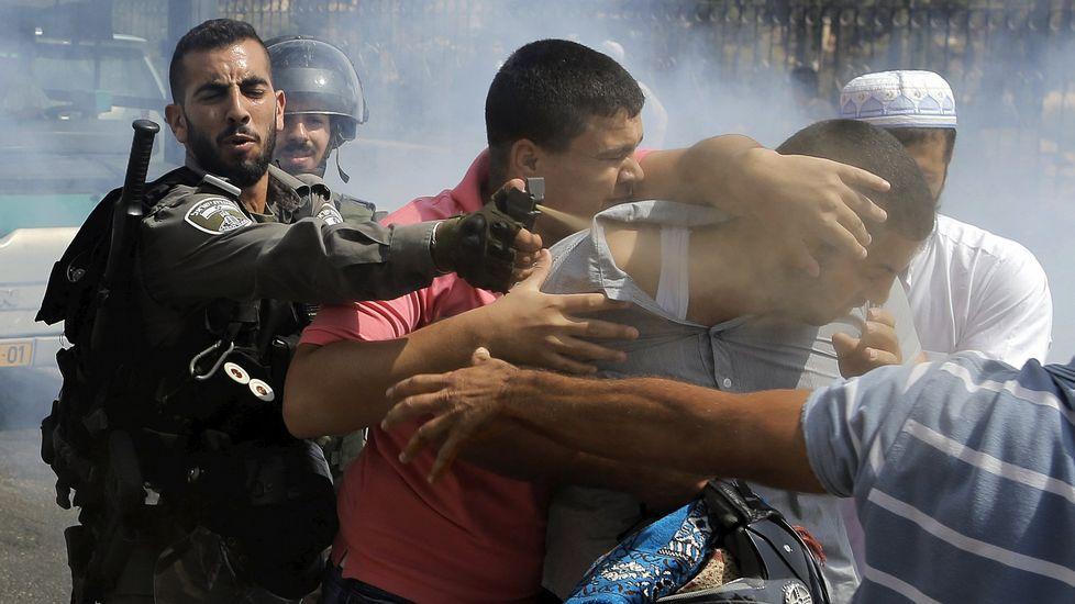 Batalla campal en Cisjordania