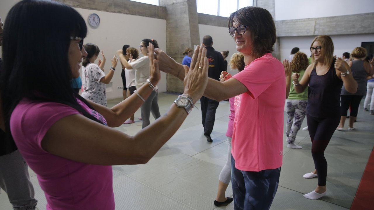 Un grupo de mujeres durante una de las sesiones del programa contra los ataques sexuales