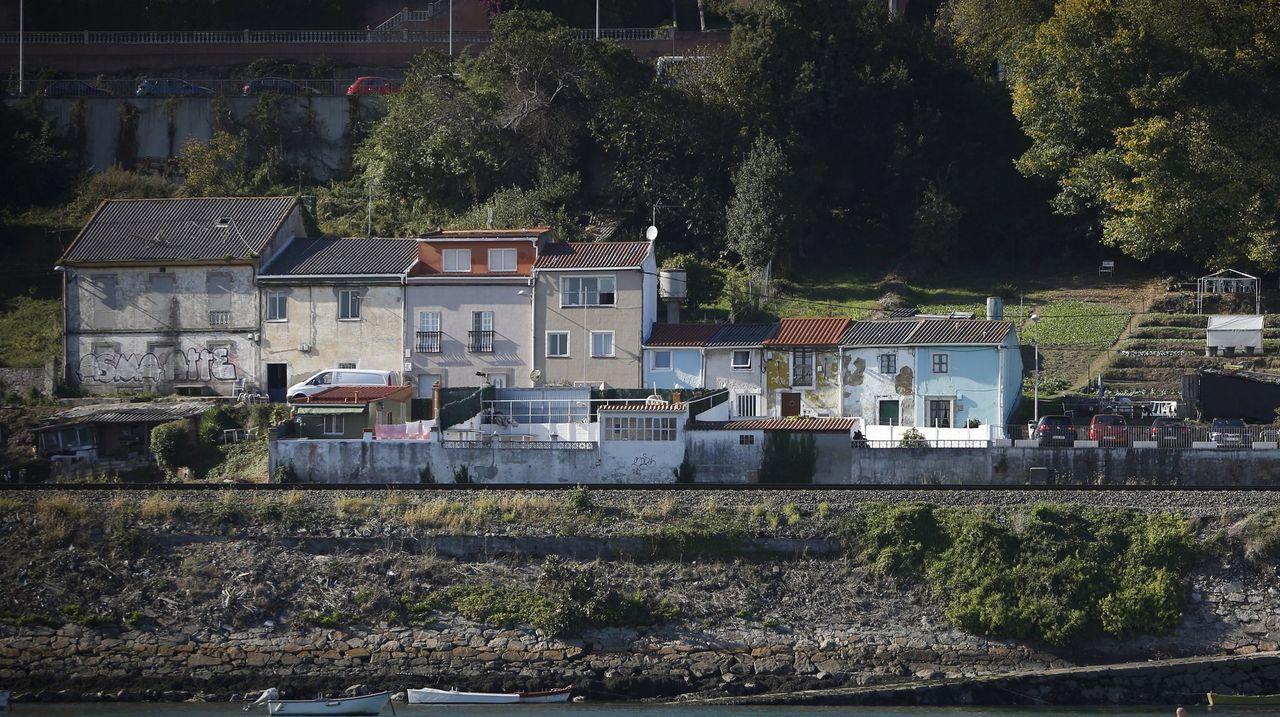 Vista del puerto de As Xubias en A Coruña
