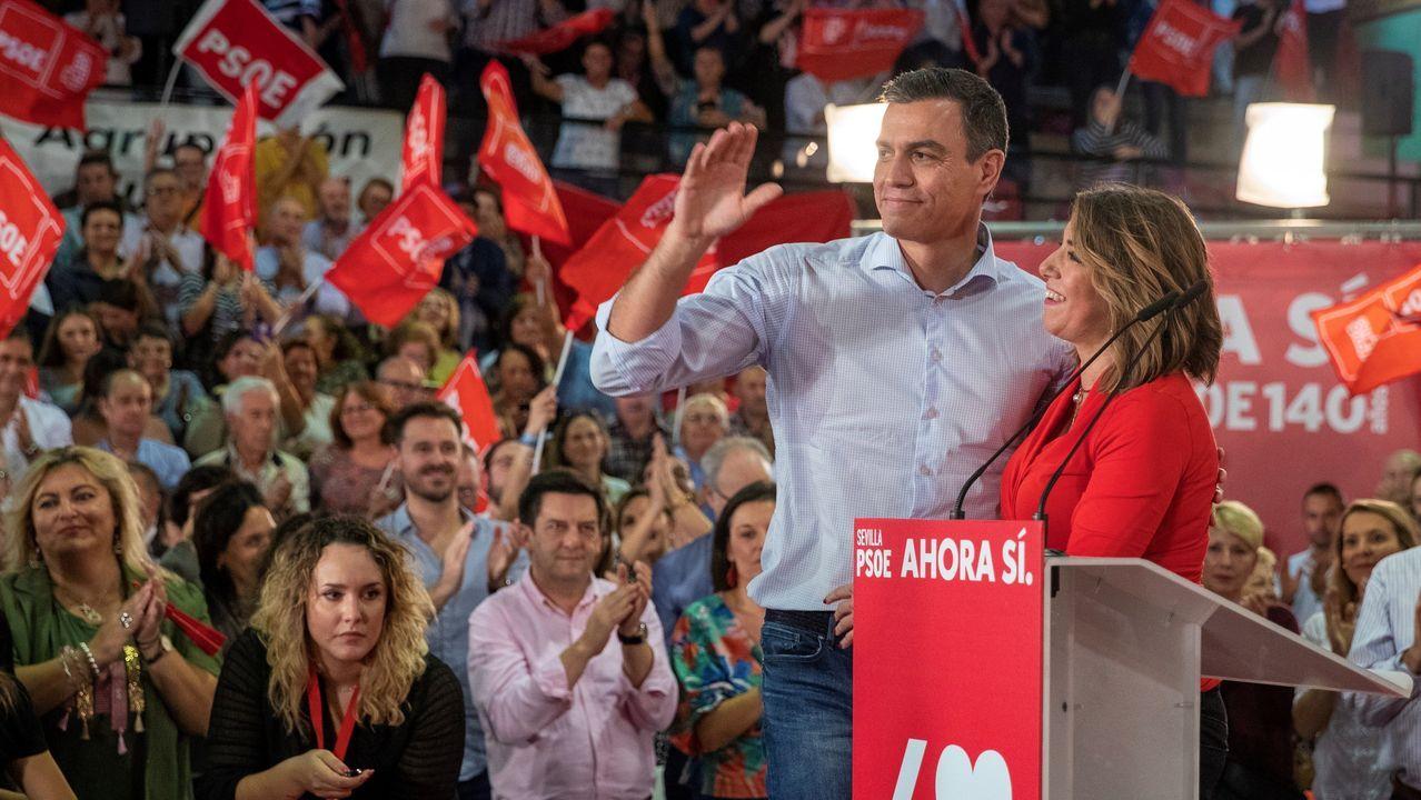 El presidente del Gobierno en funciones y secretario general dle PSOE, Pedro Sánchez, el jueves en Sevilla