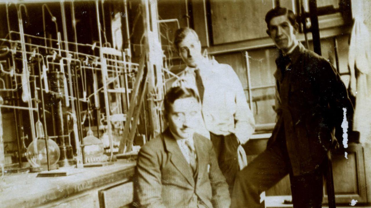 El químico, en su laboratorio.