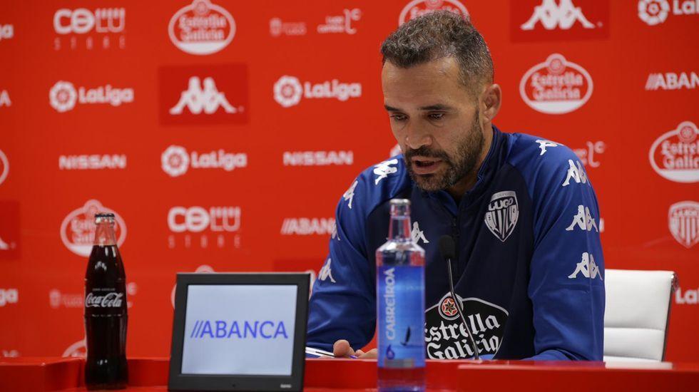 Juanfran García en su primera rueda de prensa de la pretemporada