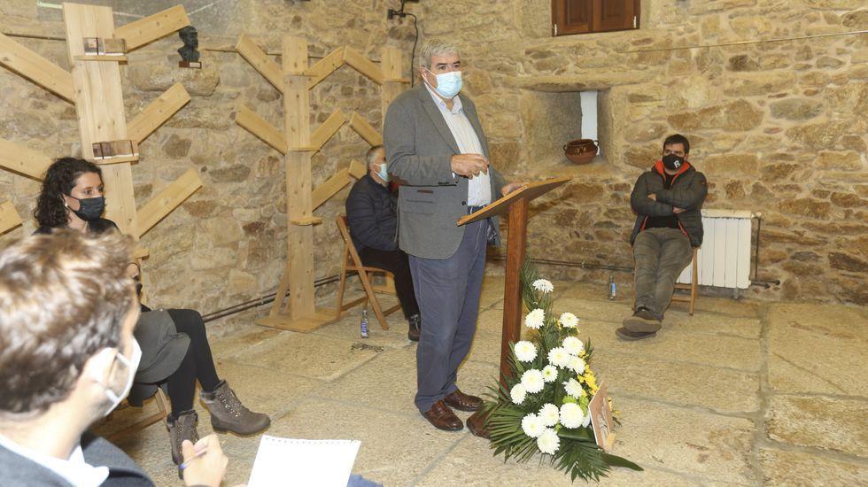 Lema Piñeiro, onte, durante a súa intervención en Foro Voz