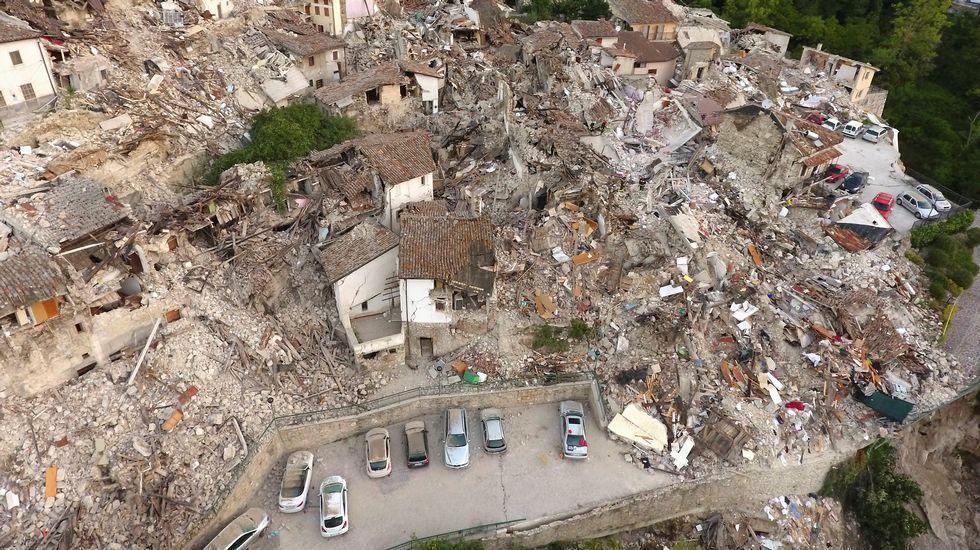 Italia devastada, desde el aire