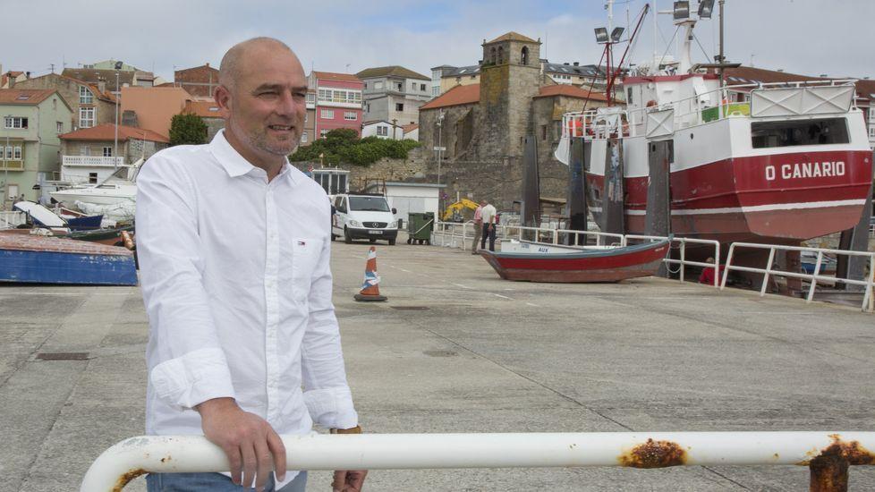 Playasen la provincia deA Coruña.Terraza del Vila de Laxe
