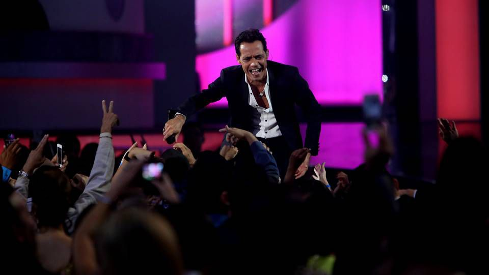 Tamara Falcó.Marc Anthony en los premios Billboard
