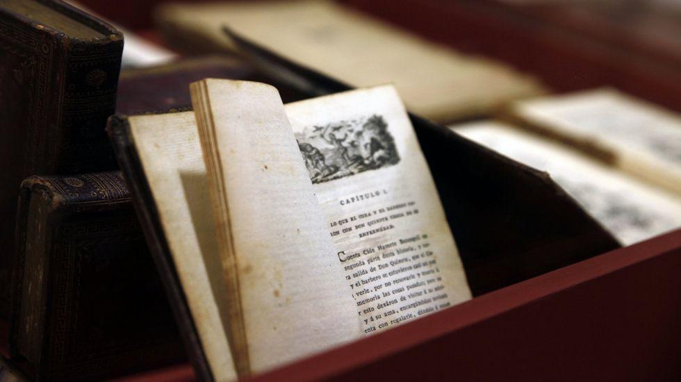 En el capítulo VI del «Quijote», el cura y el barbero de su pueblo examinan la biblioteca del hidalgo
