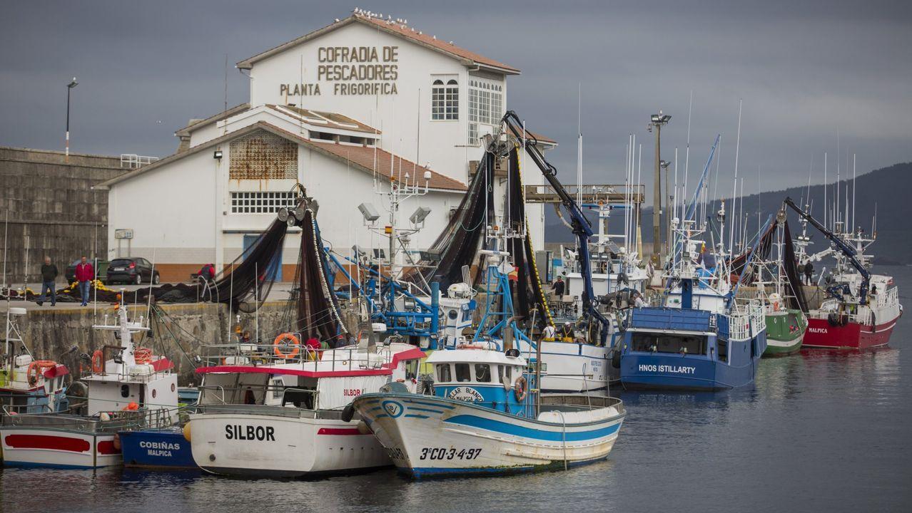 Pincheiros de Gran Sol que operan en Celeiro (en la imagen) y Burela mantienen su compromiso de seguir faenando para garantizar el suministro alimentario antes, durante y después de la crisis del coronavirus