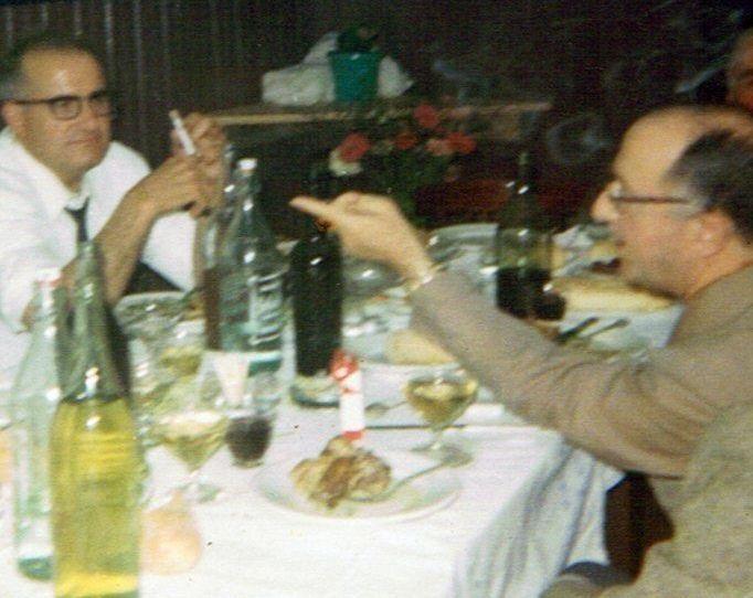José Estévez «Coles» e o Forense con seu aceno característico, nunha foto do 26 de agosto do ano 1967