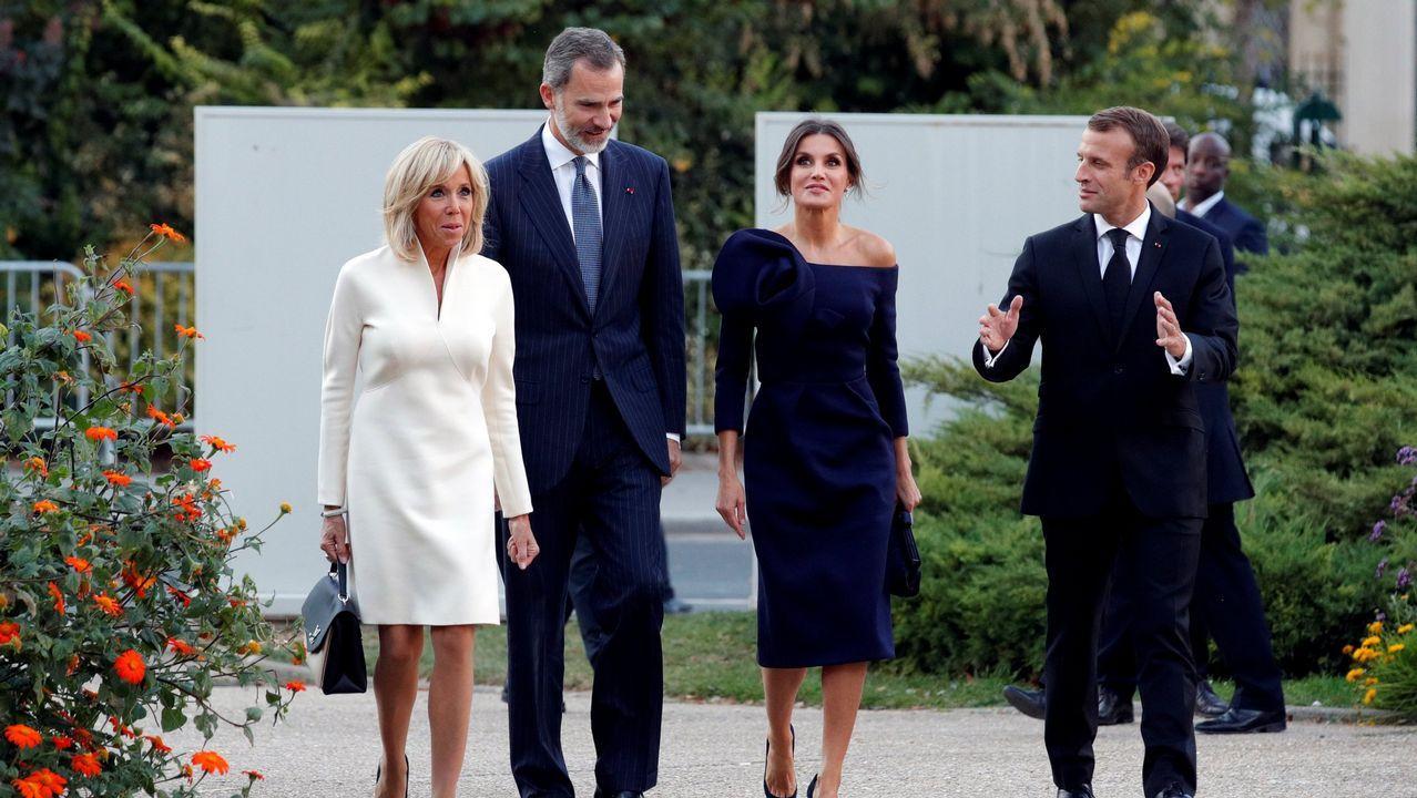Junto a Macron y su esposa en octubre