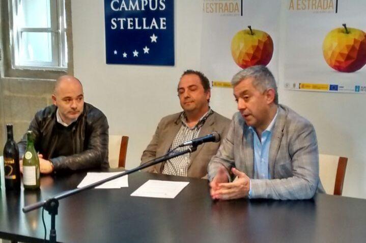 Santiago acogió ayer la presentación de la Feira da Sidra.