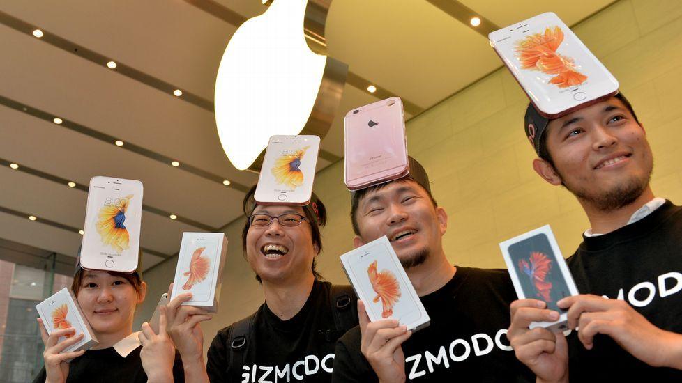 iphone.Imagen de archivo de un iPhone 6 Plus en una tienda de Tokio.