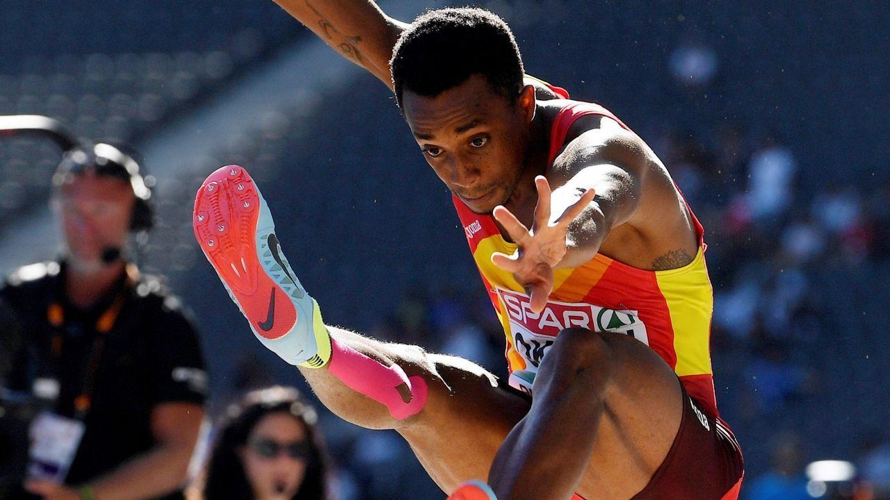 Jean Marie Okutu. Hexacampeón de España de longitud al aire libre, ya estuvo presente en los Juegos Olímpicos de Río.