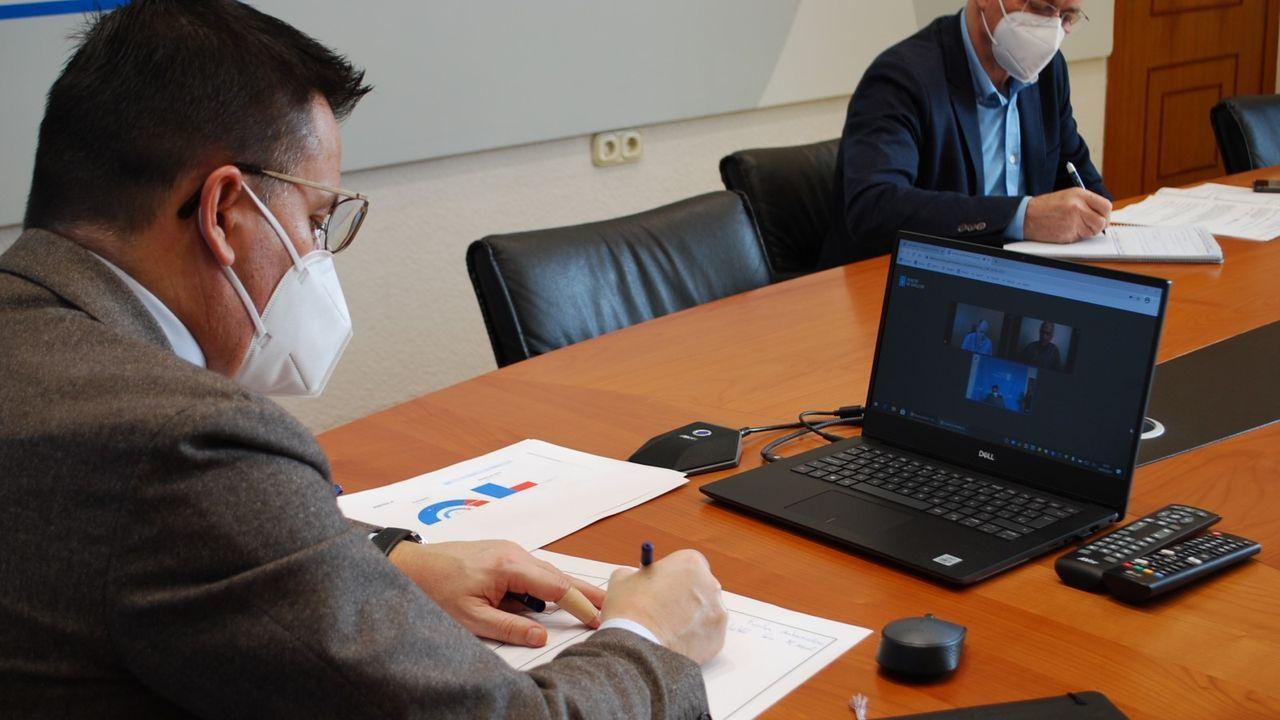 Reunión telemática del conselleiro de Medio Rural con el alcalde de A Peroxa