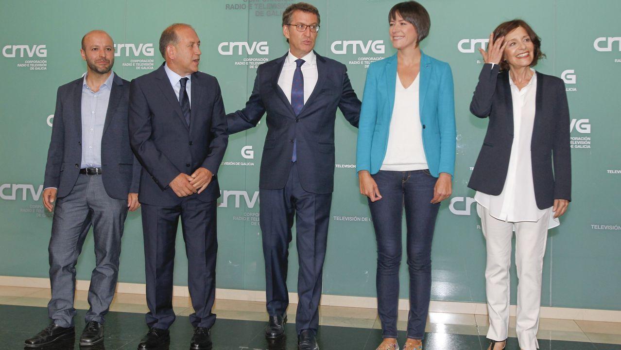 Hace cuatro años participaron en el debate Luís Villares (En Marea), Fernández Leiceaga (PSdeG), Núñez Feijoo (PP), Ana Pontón (BNG) y Cristina Losada (Cs). Solo dos de ellos, Feijoo y Pontón, repiten esta noche