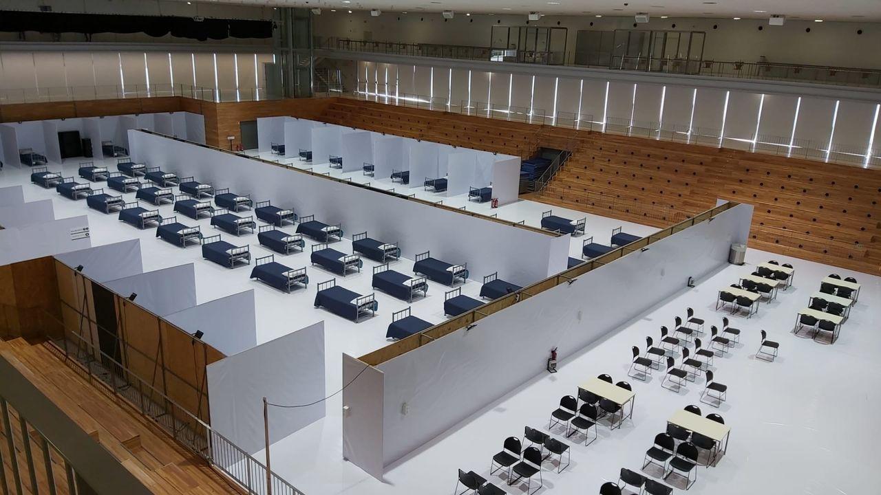 En Viana se ha abierto un hospital de campaña con capacidad para 120 camas y que ya tiene cinco enfermos