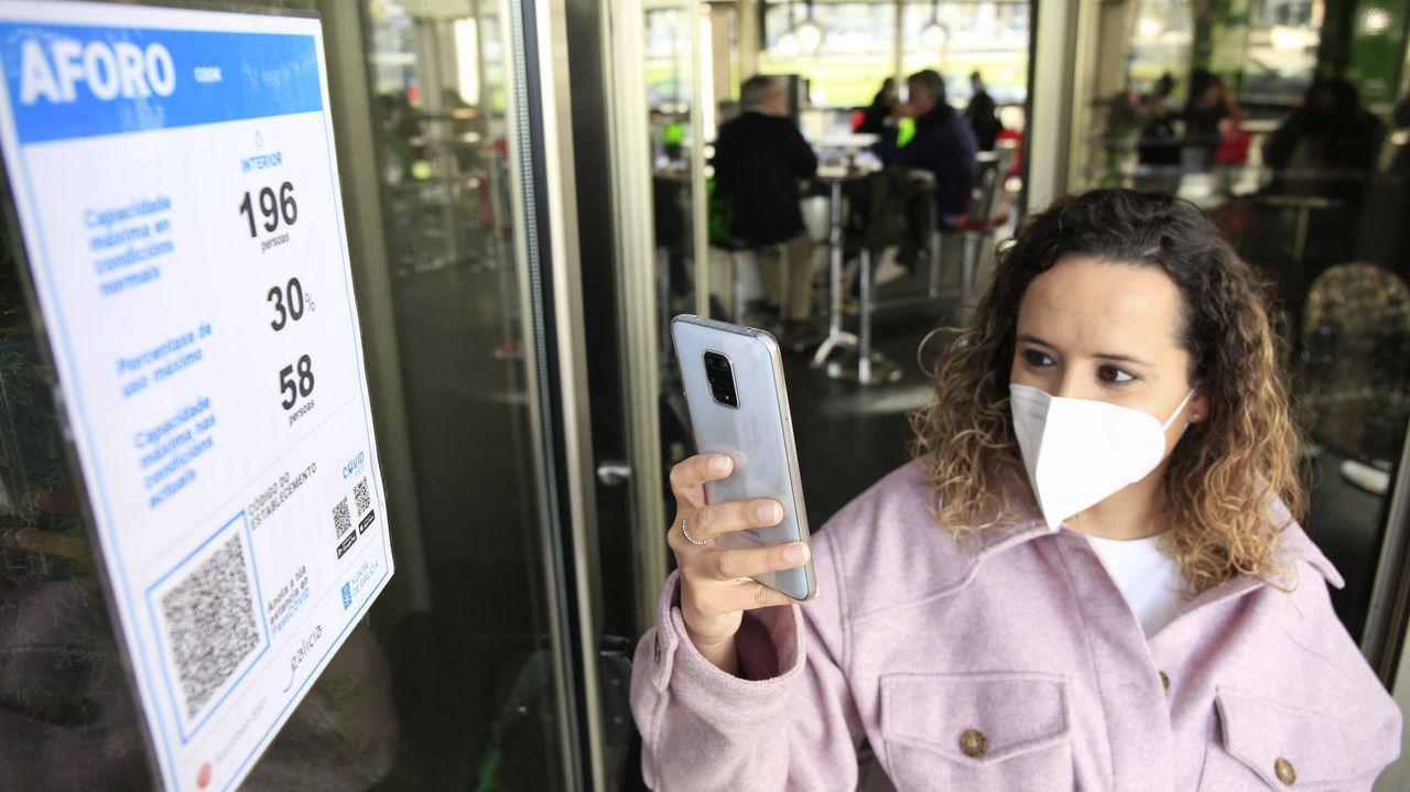 El código QR en las puertas del Cook, tendrá que ser escaneado para controlar el aforo