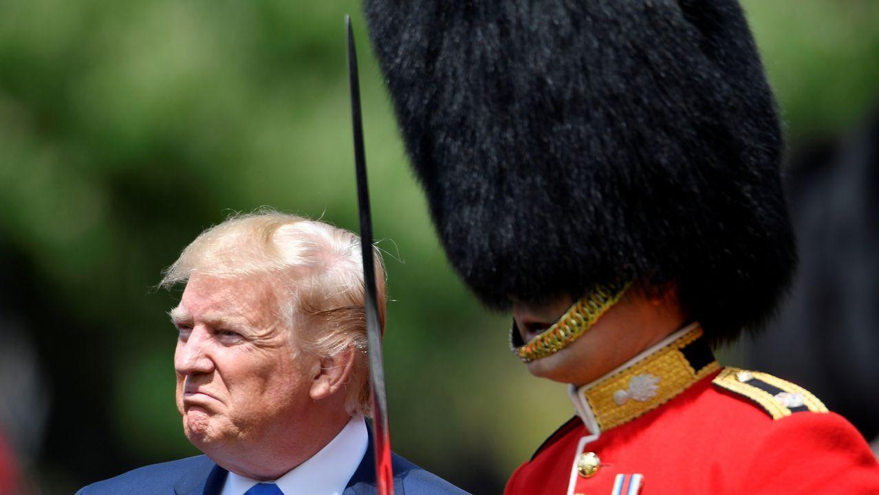 La visita de Trump a la capital británica, en imágenes