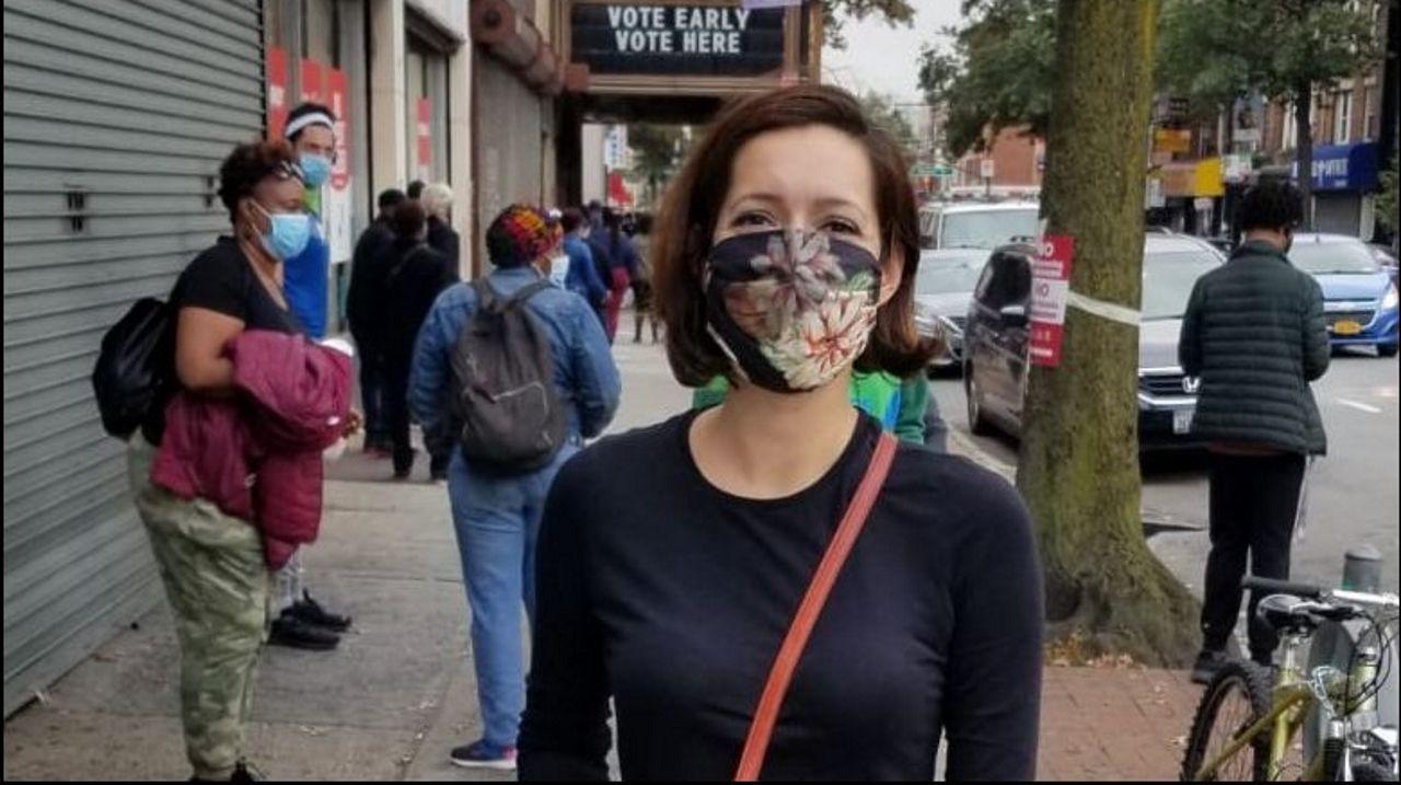 Michelle Mirón, una joven nacida en EE.UU. de origen coruñés,