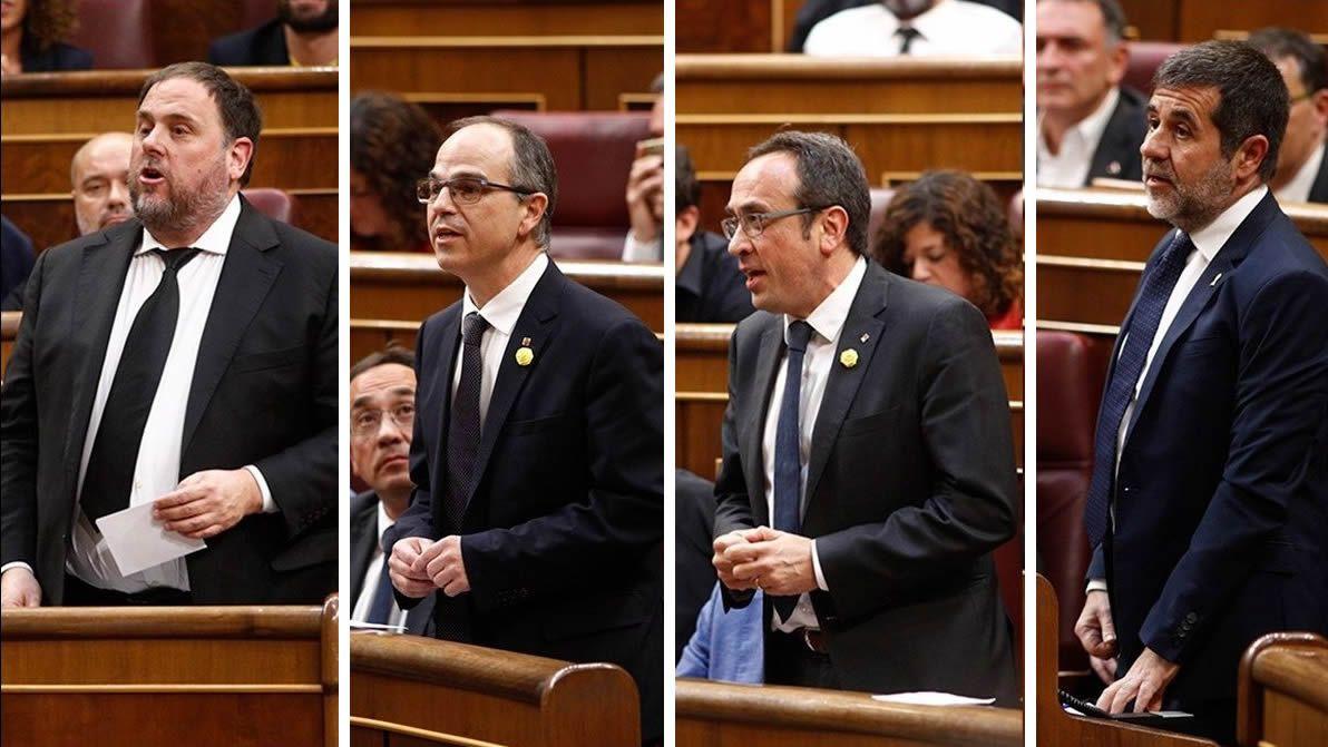 | EFE.La exconsejera de la Generalitat y prófuga de la Justicia Clara Ponsatí, con su credencial de eurodiputada