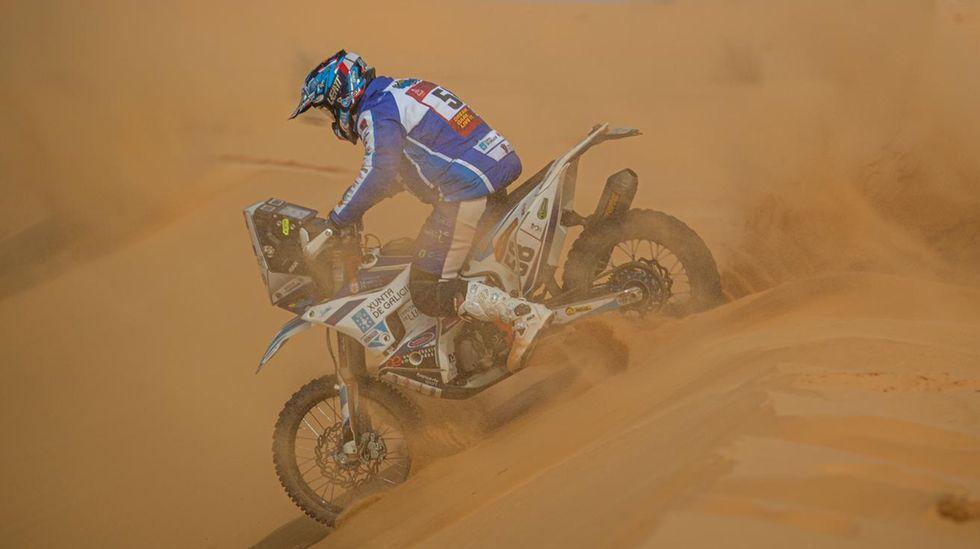 Imagen ganadora del premio Emilie Poucan a Mejor fotografía del Dakar 2021, en Arabia Saudí