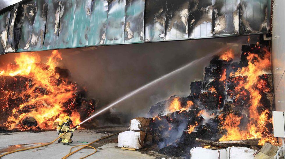 Las fotografías del espectacular incendio en Prodeme.Protesta de hosteleros contra el cierre forzoso de sus negocios el pasado mes de noviembre en Monforte
