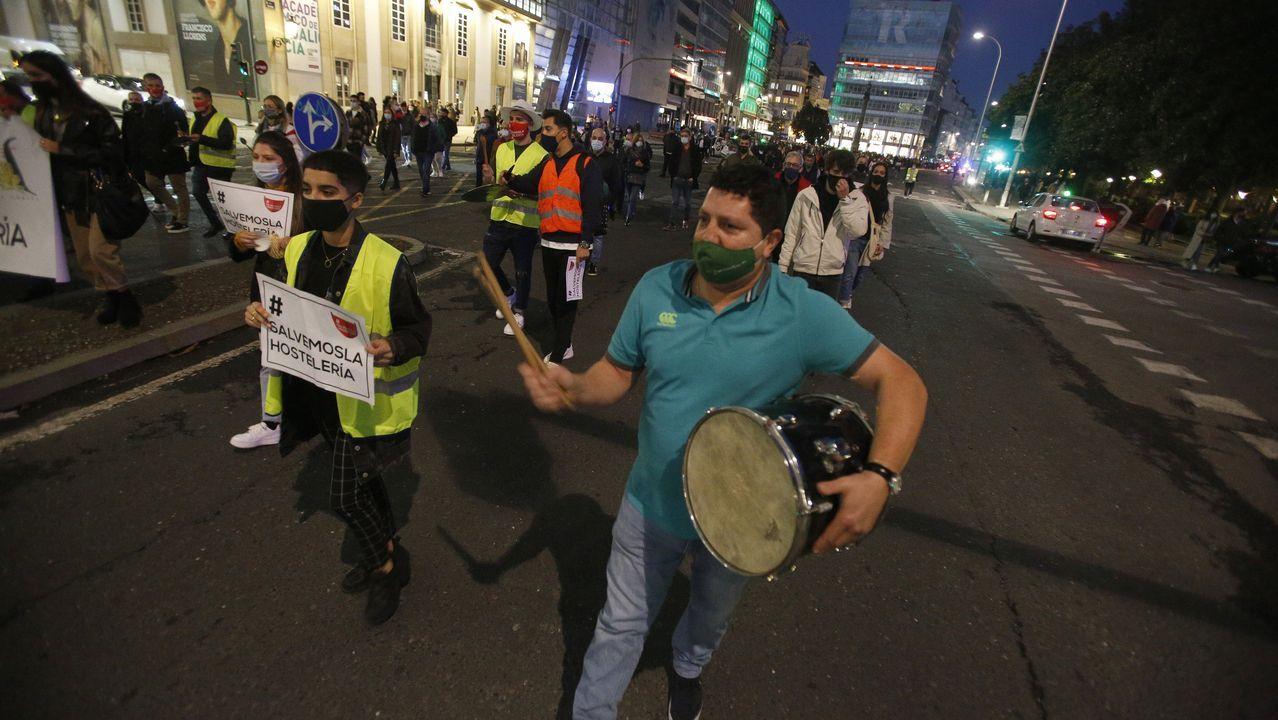 coruna.Protesta de los hosteleros en A Coruña