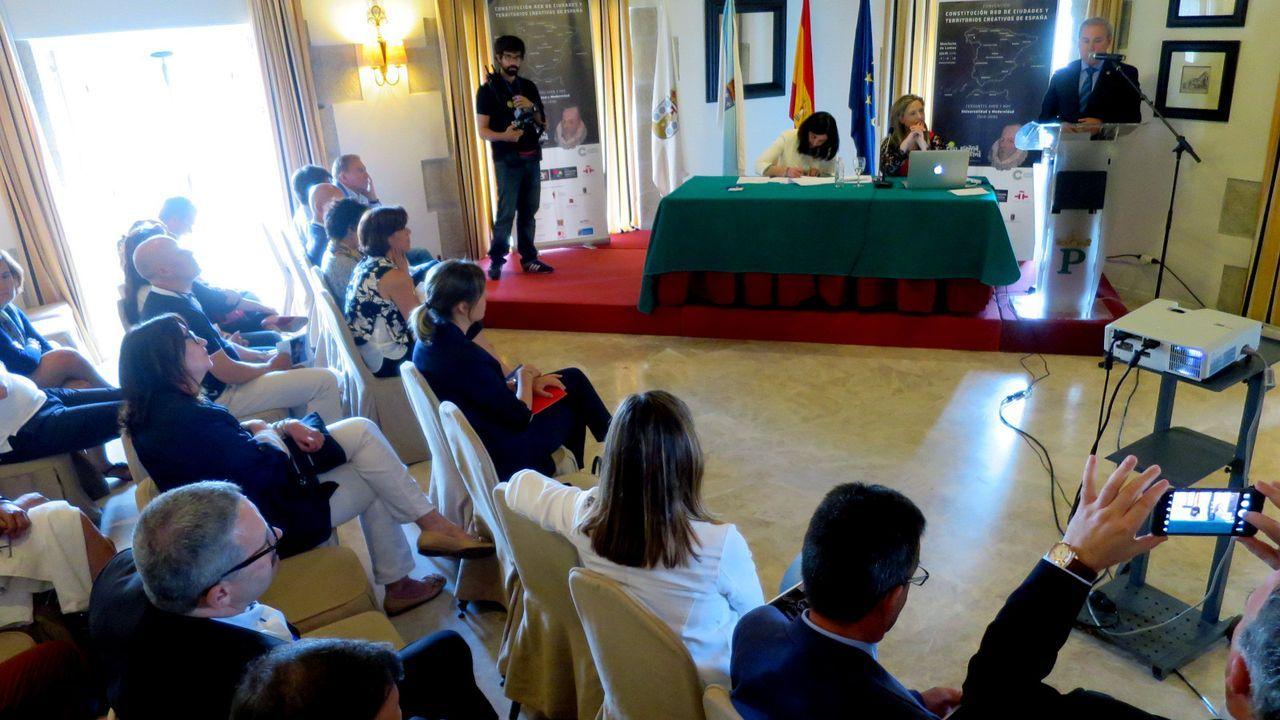 La firma del acta fundacional de la Red de Ciudades y Territorios Creativos de España se llevó a cabo en el Parador de Monforte en julio del 2016