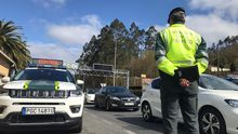 Imagen de uno de los controles de la Guardia Civil durante el puente festivo de San José