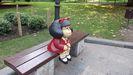 Estatua de Mafalda en el Campo San Francisco de Oviedo