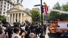 Inaguración en Washington de una plaza  con el lema antirracista «Las vidas negras importan»