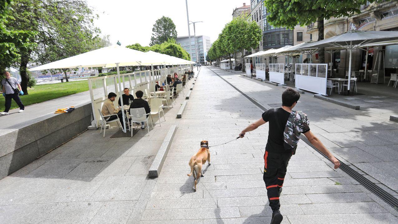 Las terrazas de Vigo podrán ampliarse si hay espacio para peatones
