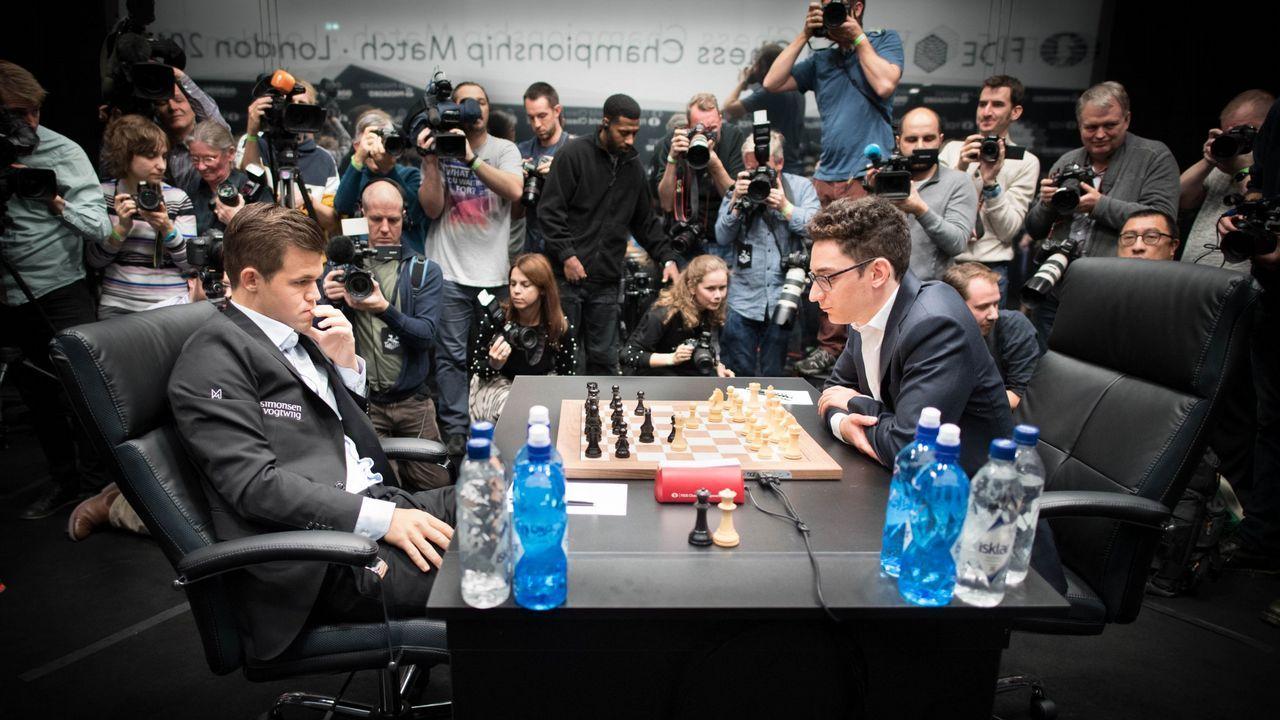 En directo: Carlsen - Caruana,tercer asalto en el Mundial de ajedrez.Mejor cachopo con Ternera Asturias