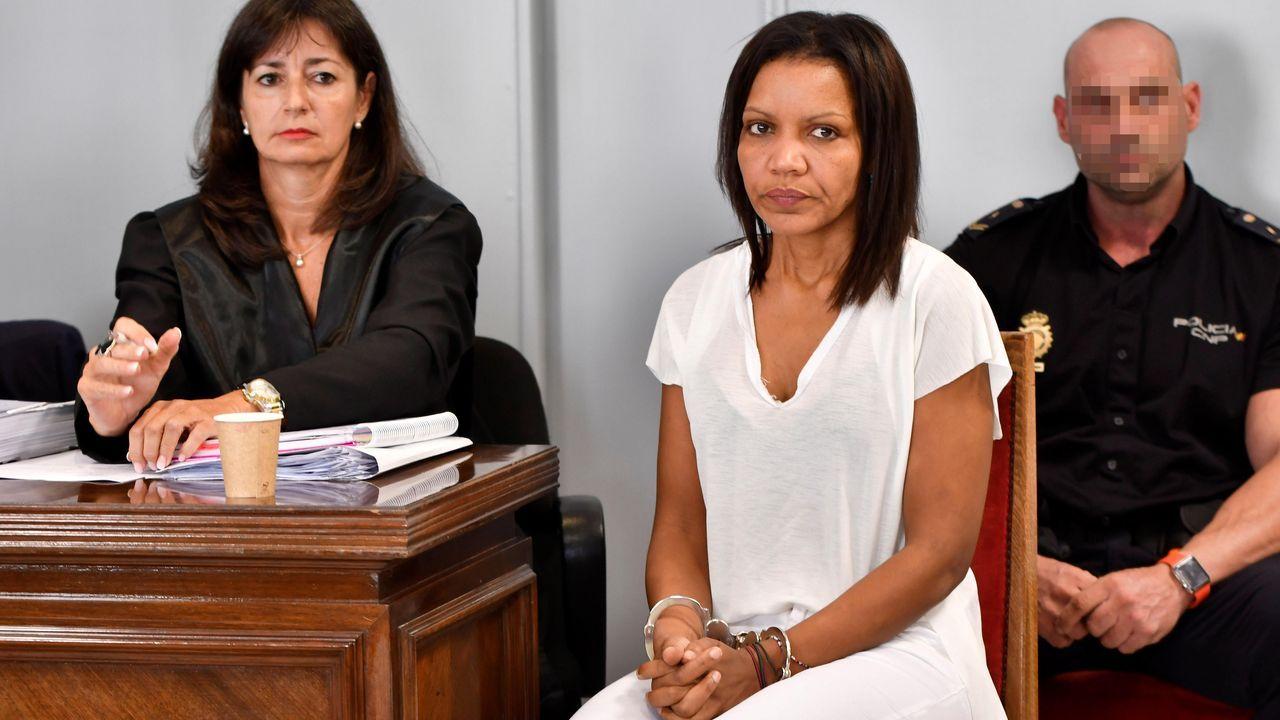 Ana Julia Quezada apareció ayer en la Audiencia Provincial de Almería con una nueva imagen