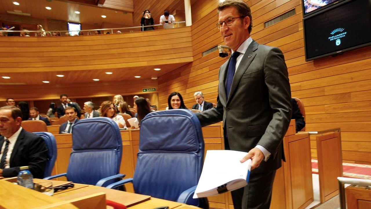 Ha terminado su discurso así: «Os galegos poden contar comigo»